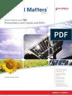 Alternative Energy - Material Matters v4n4