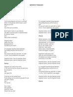 lyrics imperfect romance