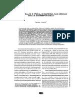 AMORIM, Henrique. Valor-trabalho e Trabalho Imaterial Nas Ciências Sociais Contemporâneas