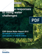 CDP Water Disclosure Global Report 2012