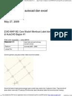 [CAD-MAP-06]_ Cara Mudah Membuat Label Dan Table Koordinat Di AutoCAD Bagian #1 _ Coretan Tentang Autocad Dan Excel