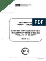 Instructivo n003 2014 GAF IRTP Reporte Investigacion Incidente Abril2014