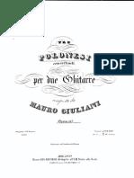 Op 137 Tre Polonesi Concertanti Per Due Chitarre