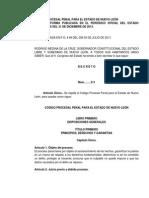 Codigo Procesal Penal Para El Estado de Nuevo Leon
