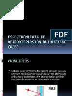 Espectrometría de Retrodispersión Rutherford (RBS)