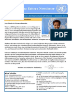 UN Eritrea annual Newsletter 2014