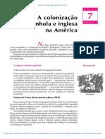 07 a Colonizacao Espanhola e Inglesa Na America