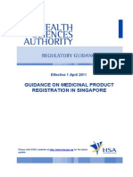 Guidance on Medicinal Product Registration in Singapore 2011