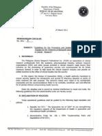 BOQ Memorandum Circular 2011-002