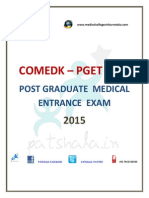 COMED-K PGET 2015 Entrance Exam Dates|Private Medical Colleges