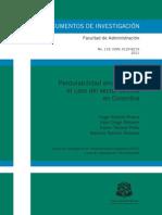 Perdurabiilidad Empresarial Sector Avicola Colombia