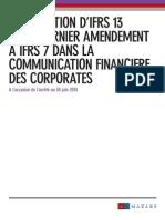 Mazars Cahier technique IFRS13 et IFRS 7