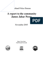 March 28, 2004 Portland Police version of shooting of Mr. James Jahar Perez