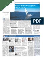 Le Figaro - 12 millions de Français prêts à se jeter à l'eau