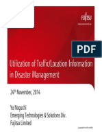 Utilization of Traffic/Location Information in Disaster Management