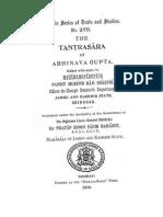 Abhinavagupta. Tantrasara
