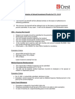 Guidelines for Submission of Investment Proofs for F Y 13-14