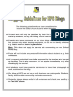 HPS Blogging Guidelines