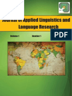 Journal of Applied Linguistics and Language Research, 1(1) 2014