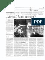 ¿Volverá Bono a tocar?