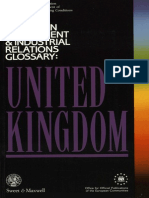 EUROPEAN EMPLOYMENT & INDUSTRIAL RELATIONS GLOSSARY