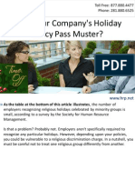 Does Your Company's Holiday Policy Pass Muster?