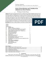 Empirical Analysis of Stock Returns and Volatilityof the Zimbabwean Stock Markets