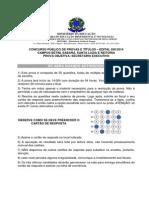 Capa de Prova e Prova Objetiva - Secretario Executivo