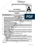 IES Electrical Engineering Objective Paper 2014