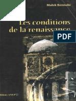 Condtions de la Renaissance Islamique