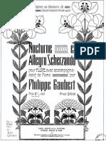 P. Gaubert - Nocturne et allegro scherzando for flute and piano