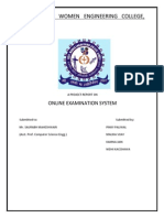 153857920 Online Exam System in PHP Project Report