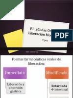 2 Formas Farmacéuticas Sólidas Orales de Liberación Modificada 2014