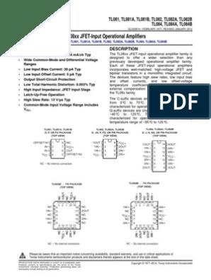 tl084 datasheet | Operational Amplifier | Amplifier