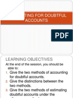 Accounting for Doubtful Accounts