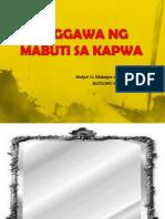 Module 11 Paggawa Ng Mabuti Sa Kapwa
