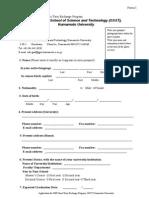 Application Form JASSO 2014