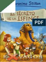 Geronimo Stilton. El Secreto de La Esfinge-LibroSelva