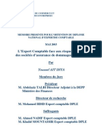 l'expert comptable face aux risques d'audit des sociétés d'assurance de dommages au maroc