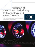 The Contribution of the Automobile Industry to Technology and Value Creation