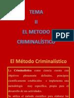 El Metodo Criminalistico