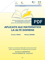 02. Matematica - 3 - Aplicatii Matematice in Alte Domenii