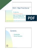 uC/OS-II – Real-Time Kernel