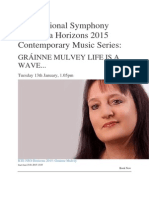 RTÉ National Symphony Orchestra Horizons 2015 Contemporary Music Series