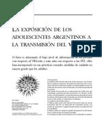 LA EXPOSICIÓN DE LOS ADOLESCENTES ARGENTINOS A LA TRANSMISIÓN DEL VIH/SIDA