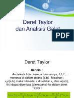 Deret Taylor Analisis Galat