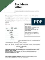 DM - 6 Euclidean Algorithm
