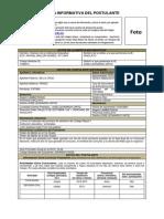 Ficha Informativa Del Postulante