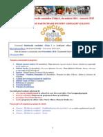 Regulament Pentru Gimnaziu Si Liceu - Concurs Sarbatorile Romanilor