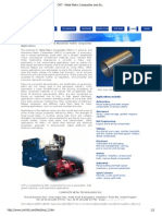 CMT - Metal Matrix Composites and Aluminium Matrix Composites Applications